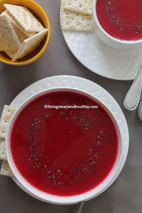 Tomato Carrot Beetroot Soup – Instant Pot, Stove Top