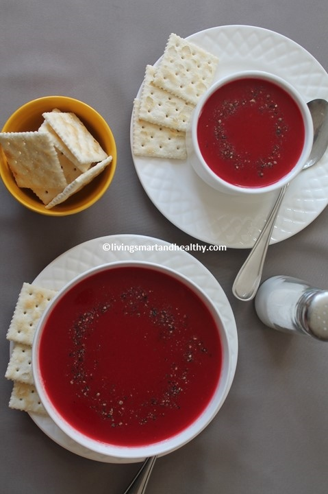 Tomato Carrot Beetroot Soup - Instant Pot, Stove Top