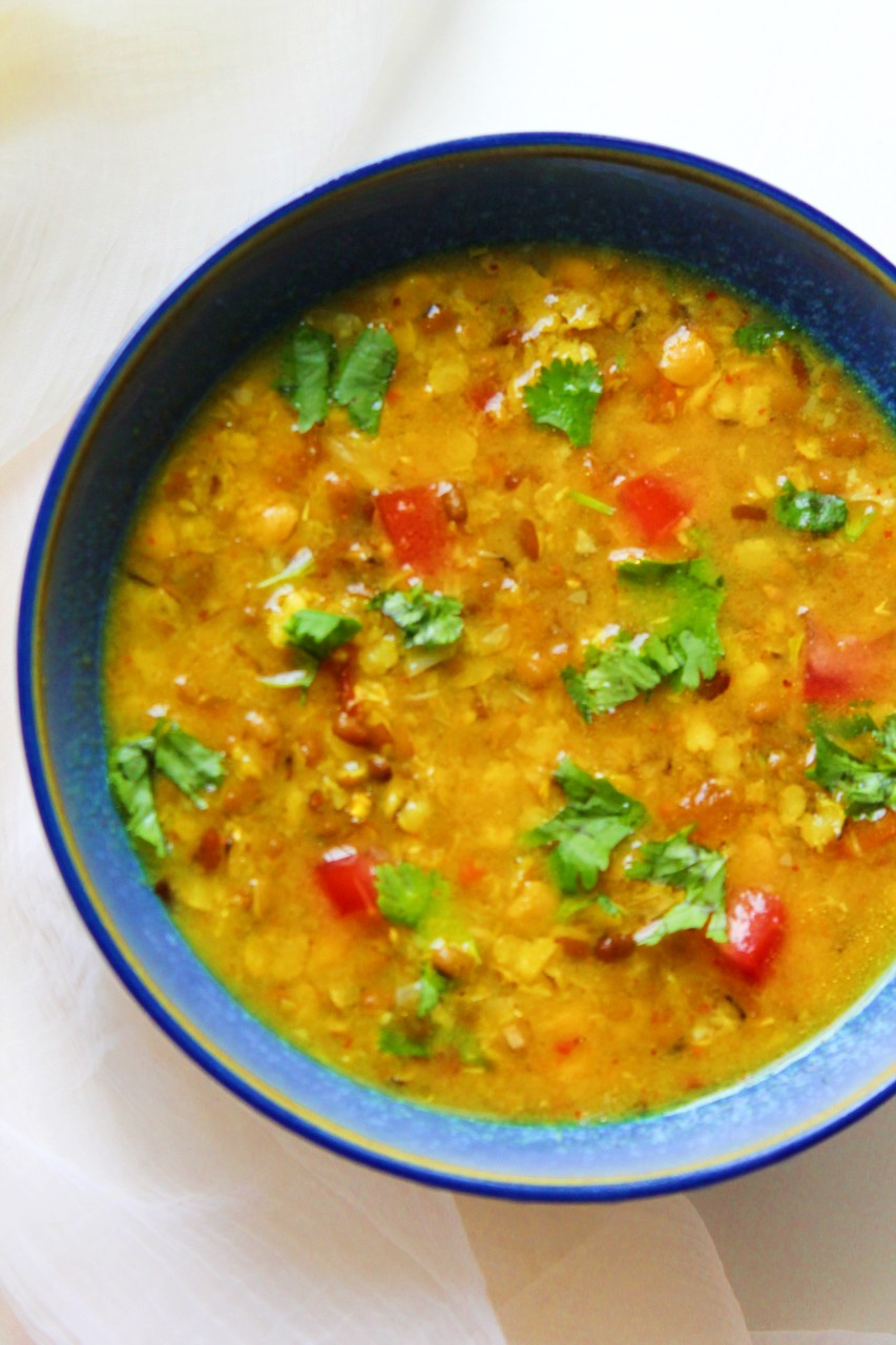 Tidali Dal / Three Lentils – Instant Pot, Stove Top