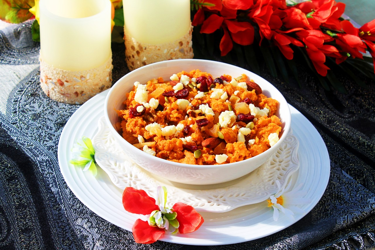 Sweet Potato Pudding / Sweet Potato Halwa / Shakarkandi Halwa