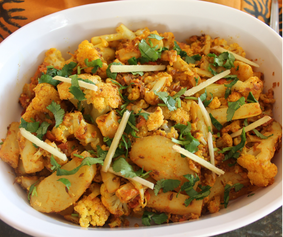 Potato Cauliflower Curry / Aloo Gobi – Instant Pot, Stove Top