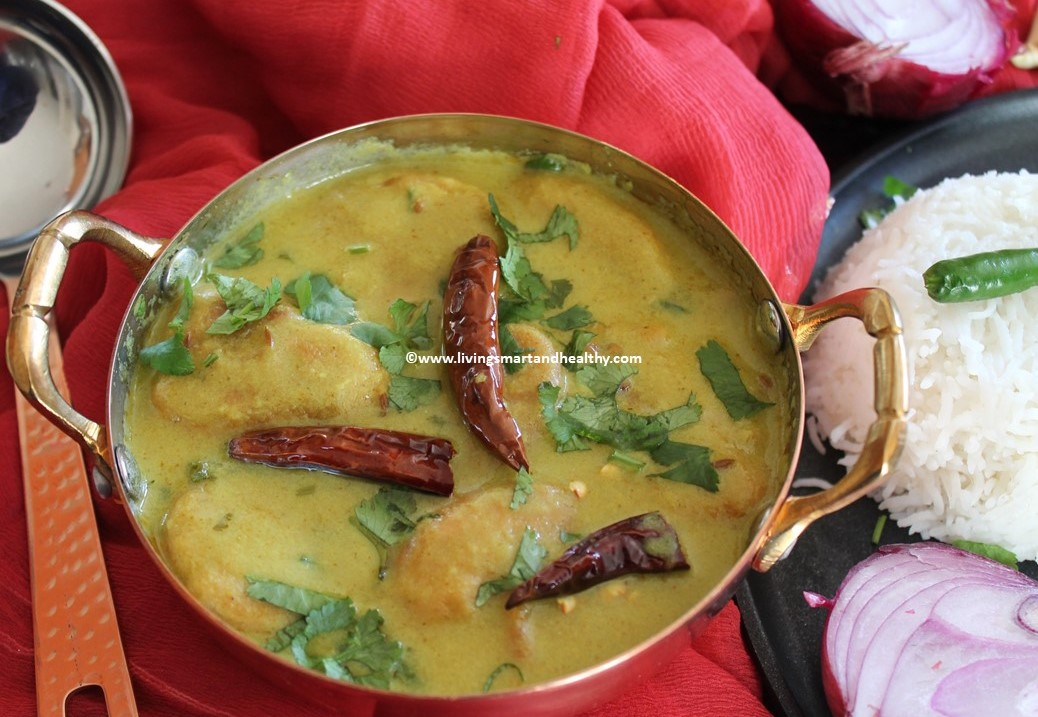 Hyderabadi Dahi Ki Kadhi / Yogurt Curry – Instant Pot, Stove Top