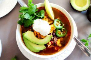 Chicken Tortilla Soup – Instant Pot, Stove Top