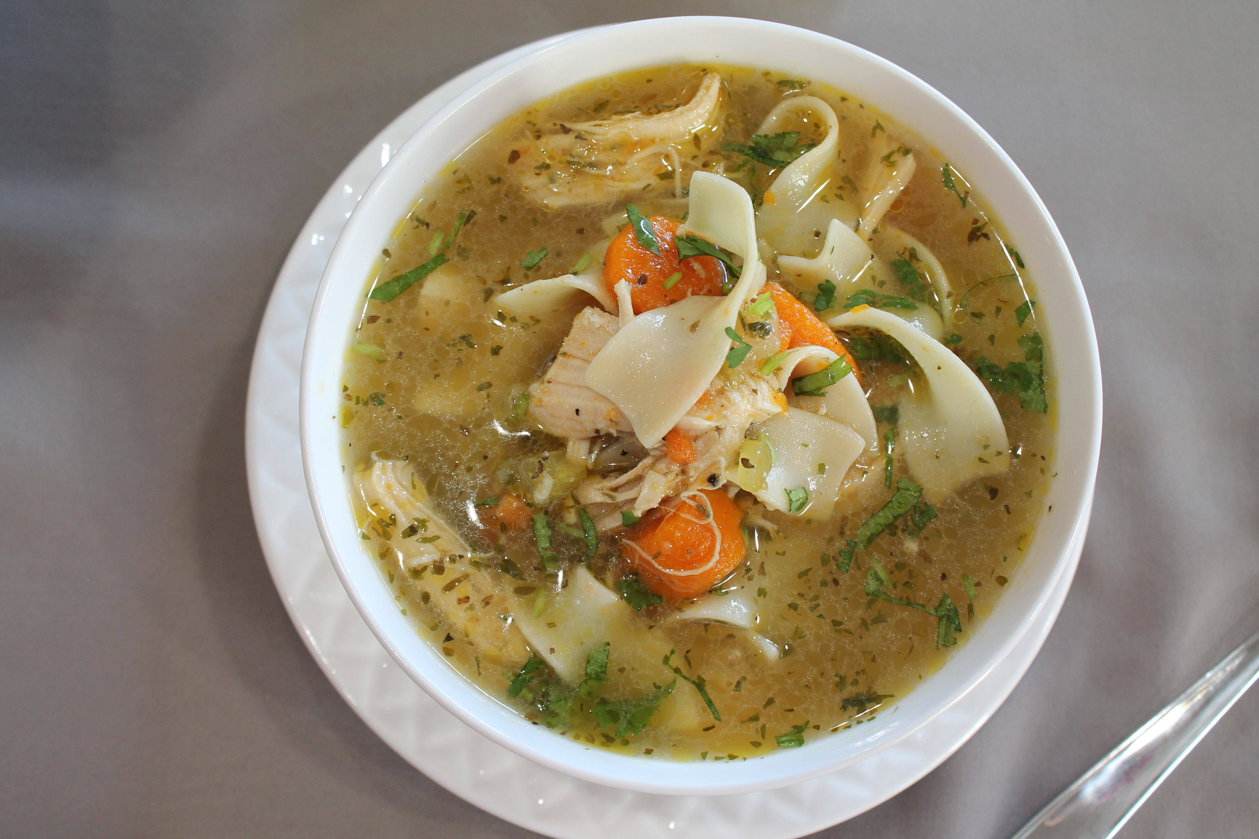 Chicken Noodle Soup – Instant Pot, Stove Top