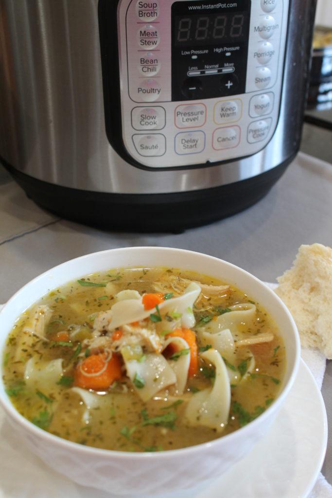 Chicken Noodle Soup – Instant Pot, Stove Top