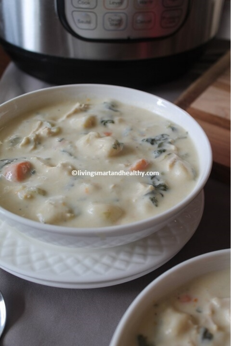 Chicken Gnocchi Soup - Instant Pot, Stove Top
