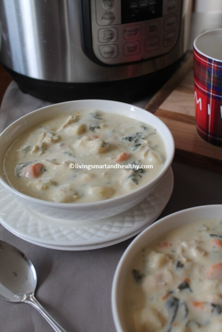 Chicken Gnocchi Soup - Instant Pot, Stove Top