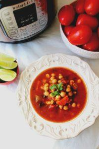 Moroccan Chickpea Tomato Soup – Instant Pot, Stove Top