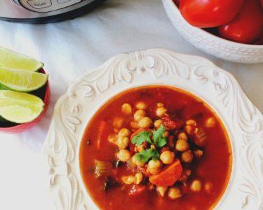 Moroccan Chickpea Tomato Soup – Instant Pot, Stove Top