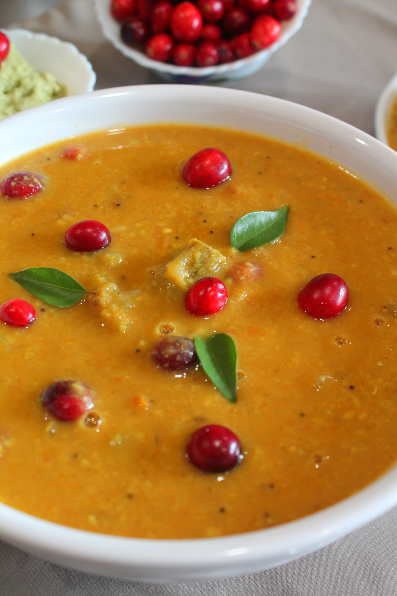 Cranberry Sambar – Instant Pot, Stove Top