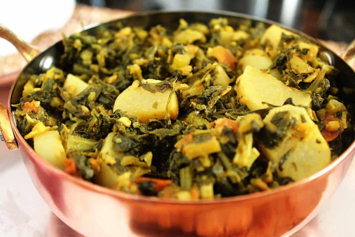 Methi Aur Mooli Ki Sabzi / Fenugreek And Radish Curry – Instant Pot, Stove Top