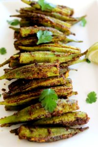Bharwa Bhindi / Stuffed Okra – Stove Top, Air Fryer