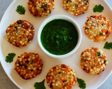 No Fry Sabudana vada – Instant pot mealthy crisplid,air fryer, oven baked, appam pan