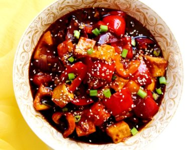 Chili Tofu – Instant Pot, Air Fryer, Stove Top