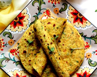 Microgreens Fenugreek Flatbread / Methi Thepla