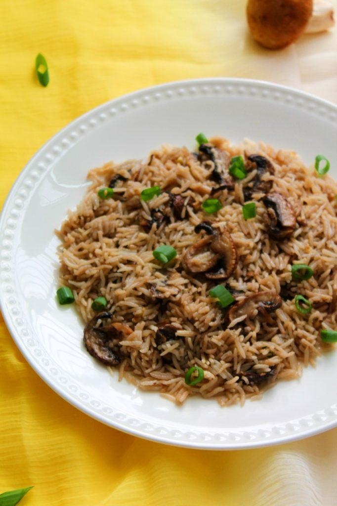 Mushroom Rice Pilaf - Instant Pot, Stove Top