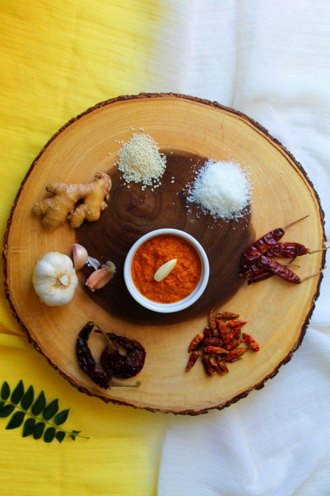 Red Chutney / Mysore Masala Dosa Chutney