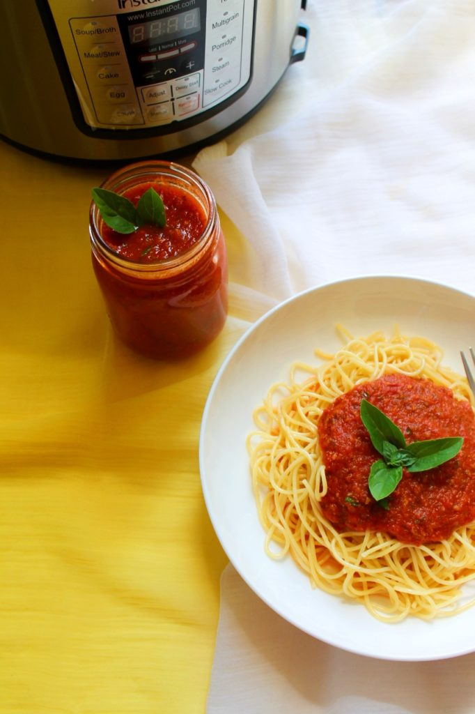 Marinara sauce with fresh tomatoes - Instant Pot
